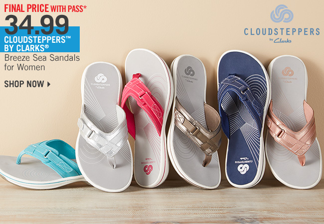 Shop Final Price* 34.99 Cloudsteppers by Clarks Breeze Sea Sandals for Women
