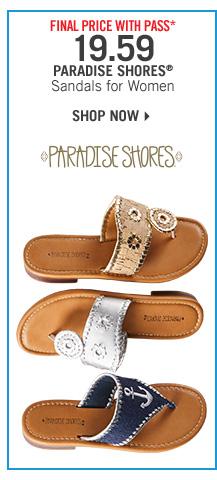 Final Price* 19.59 Paradise Shores Sandals