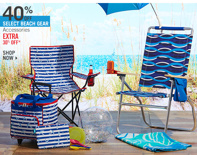 Shop 40% Off Select Beach Gear & Accessories - Extra 30% Off*