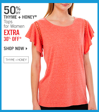 Shop 50% Off Thyme + Honey Tops - Extra 30% Off*