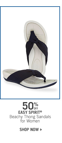 50% Off Easy Spirit Beachy Thong Sandals
