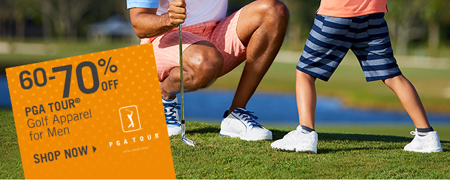 Shop 60-70% Off PGA TOUR Golf Apparel for Men