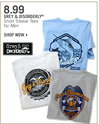 Shop 8.99 Grey & Disorderly Tees for Men