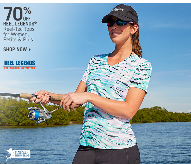 Shop 70% Off Reel Legends Reel-Tec Tops for Women, Petite & Plus