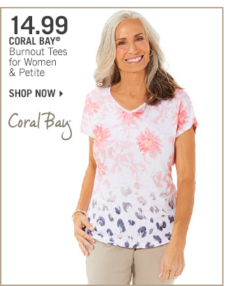 Shop 14.99 Coral Bay Burnout Tees