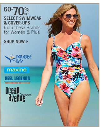 Shop 60-70% Off Select Swimwear & Cover-Ups for Women