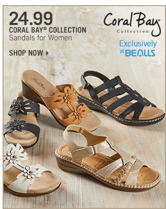 Shop 24.99 Coral Bay Collection Sandals