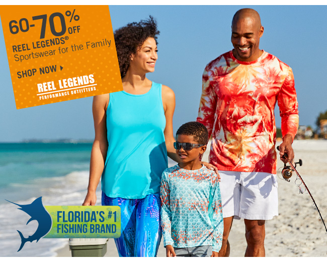 Shop 60-70% Off Reel Legends Sportswear for the Family