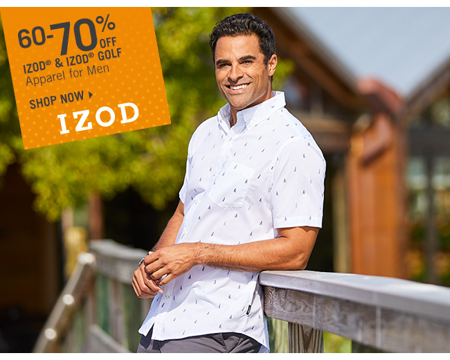 Shop 60-70% Off IZOD & IZOD Golf Apparel for Men