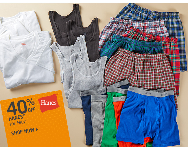 Shop 40% Off Hanes for Men