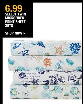 Shop 6.99 Select Twin Microfiber Print Sheet Sets