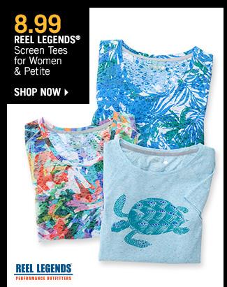 Shop 8.99 Reel Legends Screen Tees for Women & Petite