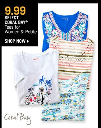 Shop 9.99 Select Coral Bay Tees