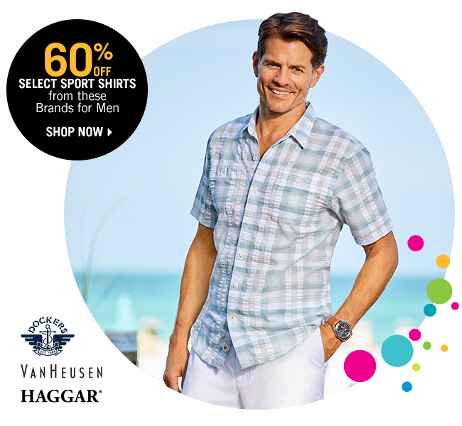 Shop 60% Off Select Sport Shirts from these Brands for Men