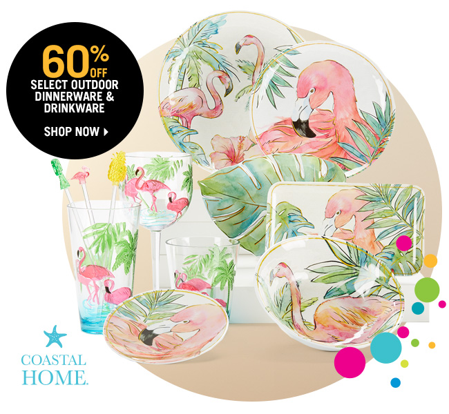 Shop 60% Off Select Outdoor Dinnerware & Drinkware