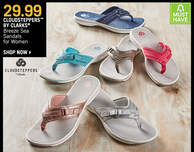 Shop 29.99 Cloudsteppers by Clarks Breeze Sea Sandals for Women