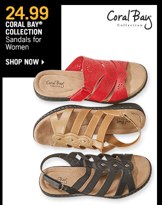 Shop 24.99 Coral Bay Collection Sandals for Women