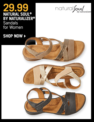 Shop 29.99 Natural Soul by Naturalizer Sandals for Women