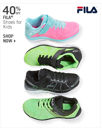 Shop 40% Off Fila Shoes for Kids