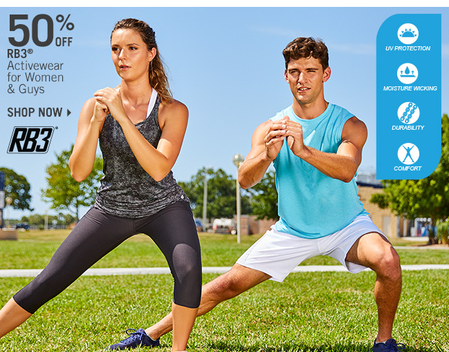 Shop 50% Off RB3 Activewear for Women & Guys