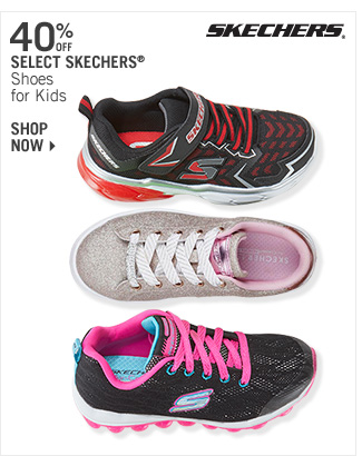 Shop 40% Off Select Skechers Shoes for Kids