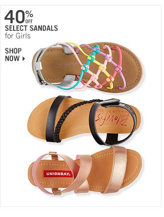 Shop 40% Off Select Sandals for Girls