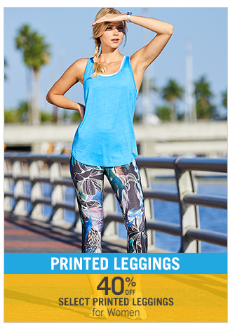 Shop 40% Off Select Printed Leggings