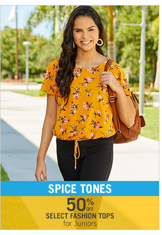 Shop 50% Off Select Fashion Tops for Juniors