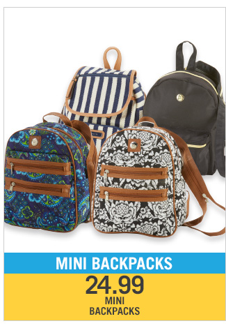 Shop 24.99 Mini Backpacks