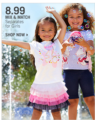 Shop 8.99 Mix & Match Separates for Girls