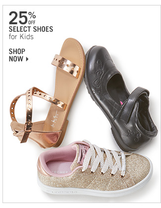 Shop 25% Select Shoes for Kids