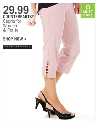 Shop 29.99 Counterparts Capris
