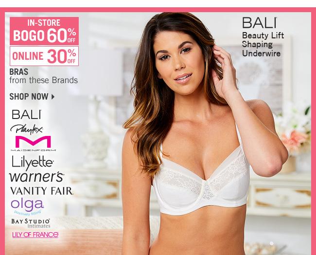 Shop 30% Off Select Bras - BOGO 60% Off In-Store - Shop Now