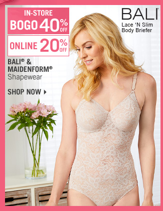 Shop 20% Off Bali & Maidenform Shapewear - BOGO 40% Off In-Store