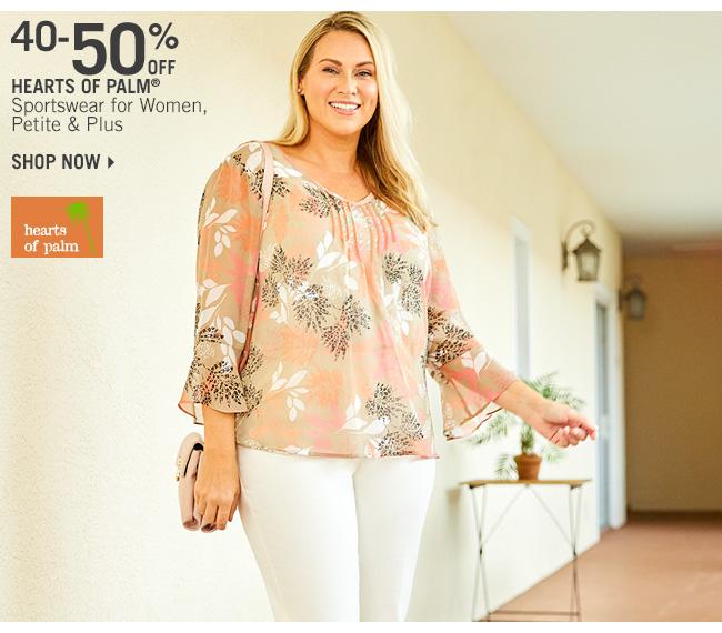 Shop 40-50% Off Hearts of Palm Sportswear for Women, Petite & Plus