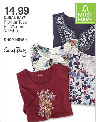 Shop 14.99 Coral Bay Florida Tees