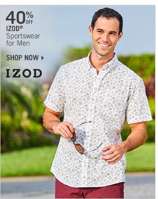 Shop 40% Off IZOD Sportswear for Men