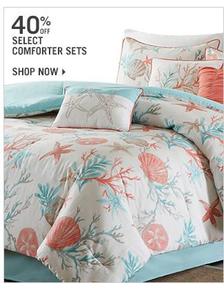 Shop 40% Off Select Comforter Sets