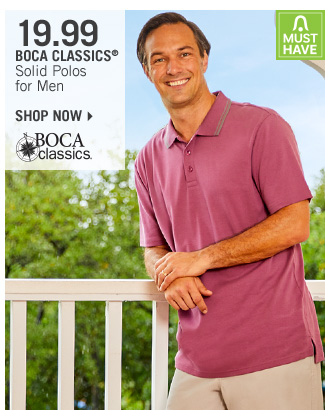 Shop 19.99 Boca Classics Solid Polos for Men