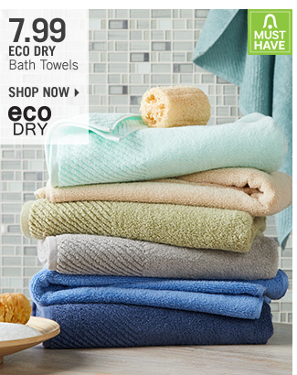 Shop 7.99 Eco Dry Bath Towels