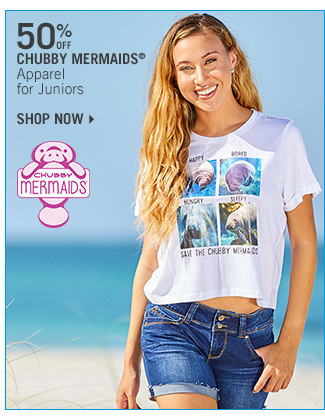 Shop 50% Off Chubby Mermaids Apparel for Juniors