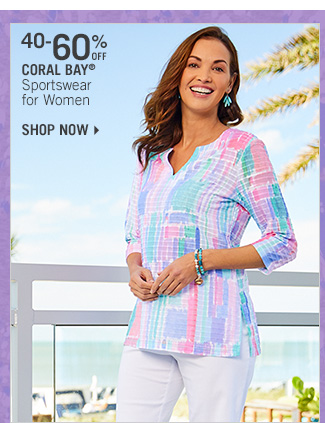 Shop 40-60% Off Coral Bay Sportswear