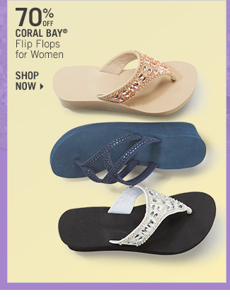 Shop 70% Off Coral Bay Flip Flops