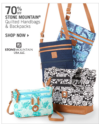 Shop 70% Off Stone Mountain Quilted Handbags & Backpacks